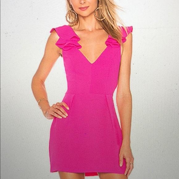 42894b935ed0 Amanda Uprichard Dresses   Skirts - Amanda Uprichard Gimlet Hot Pink Mini  Dress